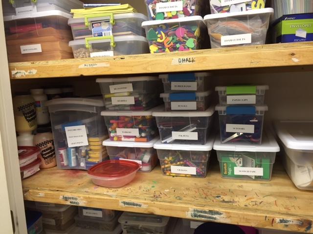 Craft items organized